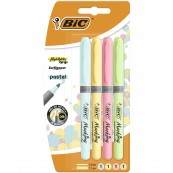 BIC Zakreślacz Highlighter Grip Pastel mix 4szt